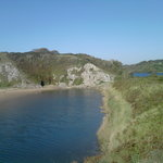 One of the popular walks around Stackpole Estate lakes, with Lily ponds, and walk to a beach