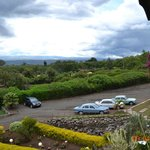 The parking lot and some of the view towards Nakuru Town