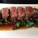 Kangaroo fillet - a riot of colour and flavours