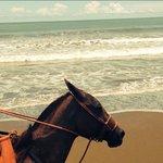 Cantering down Playa Hermosa