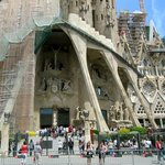 One view of Sagrada Familia but not the original part by Gaudi.