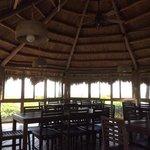 inside tiki dining room