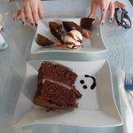 Chocolate Cake & Chocolate Brownie