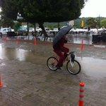 """Crazy Man"" on bike in Sarigerme"