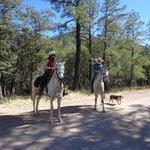 Horseback riding with Craig