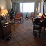 Club suite living / dining area