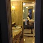 bathroom to dressing room