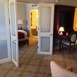 through bedroom doors to dressing room