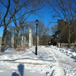 バッテリーパーク雪景色