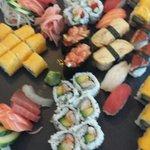 Le plateau de sushis.
