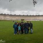 The whole group at the Royal Crescent in Bath