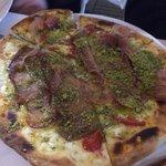 Pizza à la pistache