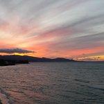 Sunset terrace view