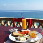 Greek breakfast on the sunrise terrace