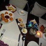 lebanese mezze platter and cheeseballs