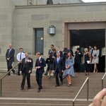 The Royals leaving the Tomb of the Unknown Soldier.