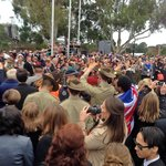 Anzac crowd, with the Royals.