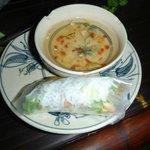 Fried fish spring rolls
