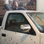 News History-journalist's truck from firefight
