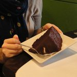 Chocolate Fudge Cake - HUGE slice and absolutely delicious