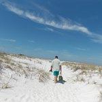 Walking across to the gulf side