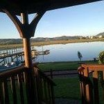 View from your veranda, room, dining room....with the canoe's that you can use
