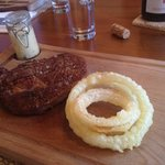 10 oz John Stone Rib-Eye Steak- Bearnaise, Homemade Fries, Onion Rings