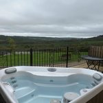 Looking out over the hot-tub