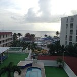 the view from our balcony- all inclusive rooms all have a balcony
