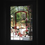 Our gorgeous stained glass kitchen door