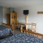 Each room has a sitting area and tv