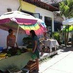 Mini farmers market at Tacos on the Street Sayulita