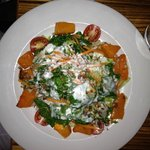 Butternut Squash with Goat Cheese Dressing from the top!