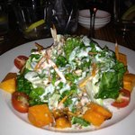 Butternut Spinach Salad from the side...