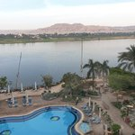 The Nile from my balcony. At Steigenberger Nile Palace