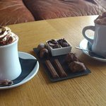 The most indulgent hot chocolate and a milk chocolate tasting slate
