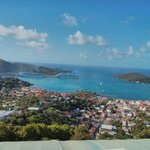 the view of Charlotte Amalie from our balcony