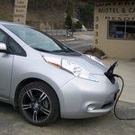 Traveling with an electric car? First charge is free, subsequent charges are a nominal fee!