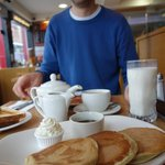 Try the pancakes! Mmmm...