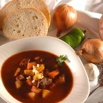 Original Hungarian Goulash soup with beef meat!