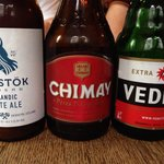 Bottled beers selection