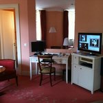 Desk and entertainment centre, Room 408