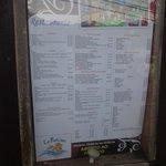 Esta es la lista de precios del restaurante en abril del 2014