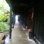 雰囲気のよい外廊下