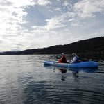 Kayaking on Lake Titicaca.