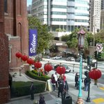 Chinese lanterns outside the restaurant