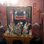 Chinese statues in the restaurant