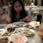 Me enjoying the food!!!