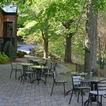 dining outdoors by river in mornings