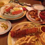 Lobster Thermidor, King Crab & sides